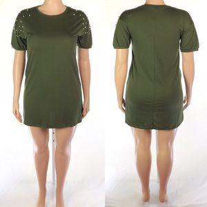 Como Olive Shift Dress